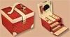 Шкатулка для украшений КАРДИНАЛ с 2 выдвижными отделениями красная (арт. 5113-04)