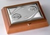 Шкатулки c серебрением Valenti:Посеребернная шкатулка для украшений  Подсолнухи , 25 х 18,5 х 5 см