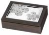 Шкатулки c серебрением Valenti:Посеребренная шкатулка для ювелирных изделий  Полевые цветы , 20 х 15,5 х 5 см